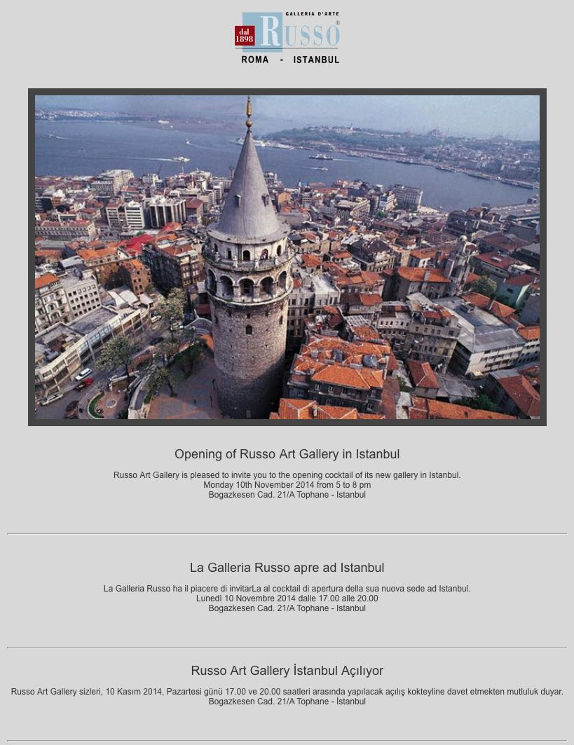 Ferdan Yusufi Galleria Russo Istanbul